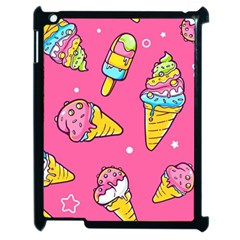 Summer Ice Creams Flavors Pattern Apple Ipad 2 Case (black) by allthingseveryday