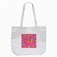 Summer Ice Creams Flavors Pattern Tote Bag (white) by allthingseveryday