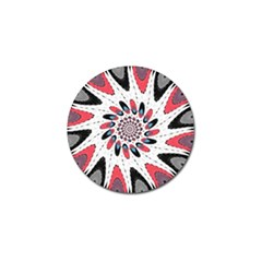 High Contrast Twirl Golf Ball Marker by linceazul