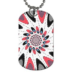 High Contrast Twirl Dog Tag (two Sides) by linceazul