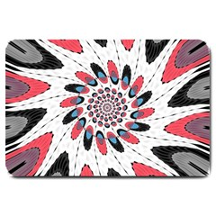 High Contrast Twirl Large Doormat  by linceazul