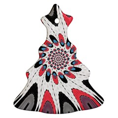 High Contrast Twirl Christmas Tree Ornament (two Sides) by linceazul