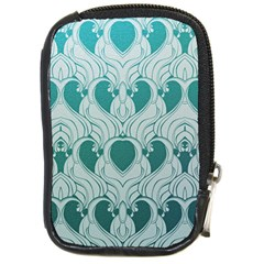 Teal Art Nouvea Compact Camera Cases by 8fugoso