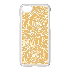 Yellow Peonines Apple Iphone 7 Seamless Case (white) by 8fugoso