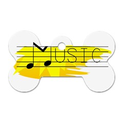 Music Dance Abstract Clip Art Dog Tag Bone (two Sides) by Celenk