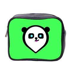 Panda Bear Mini Toiletries Bag 2 Side by Celenk