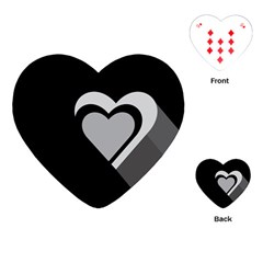 Heart Love Black And White Symbol Playing Cards (heart)  by Celenk