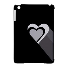 Heart Love Black And White Symbol Apple Ipad Mini Hardshell Case (compatible With Smart Cover) by Celenk