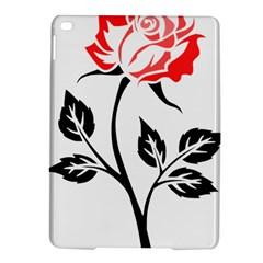 Flower Rose Contour Outlines Black Ipad Air 2 Hardshell Cases by Celenk