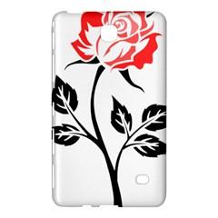 Flower Rose Contour Outlines Black Samsung Galaxy Tab 4 (8 ) Hardshell Case  by Celenk