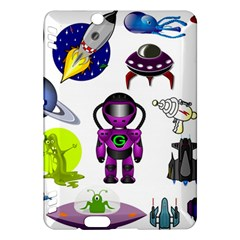Space Clip Art Aliens Space Craft Kindle Fire Hdx Hardshell Case by Celenk
