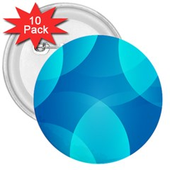 Abstract Blue Wallpaper Wave 3  Buttons (10 Pack)  by Celenk