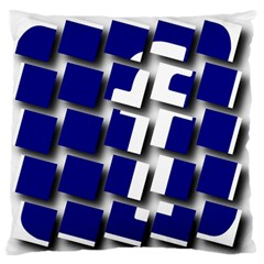 Facebook Social Media Network Blue Standard Flano Cushion Case (one Side) by Celenk