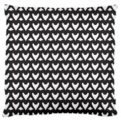 Heart Black Chain White Large Cushion Case (one Side) by Celenk