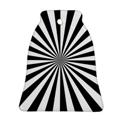 Rays Stripes Ray Laser Background Ornament (bell) by Celenk