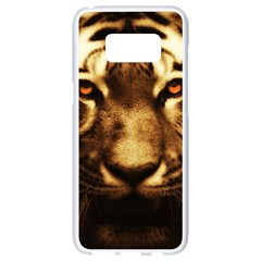 Cat Tiger Animal Wildlife Wild Samsung Galaxy S8 White Seamless Case by Celenk
