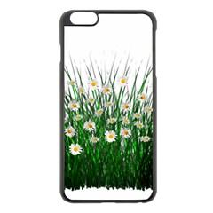 Spring Flowers Grass Meadow Plant Apple Iphone 6 Plus/6s Plus Black Enamel Case by Celenk
