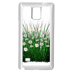 Spring Flowers Grass Meadow Plant Samsung Galaxy Note 4 Case (white)