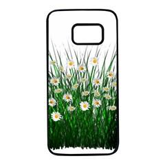 Spring Flowers Grass Meadow Plant Samsung Galaxy S7 Black Seamless Case