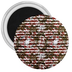 Grunge Textured Abstract Pattern 3  Magnets by dflcprints
