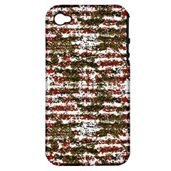 Grunge Textured Abstract Pattern Apple Iphone 4/4s Hardshell Case (pc+silicone) by dflcprints