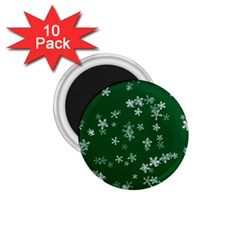 Template Winter Christmas Xmas 1 75  Magnets (10 Pack)  by Celenk