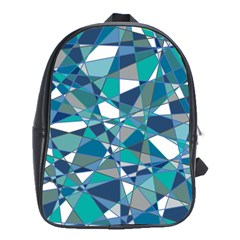 Abstract Background Blue Teal School Bag (xl) by Celenk