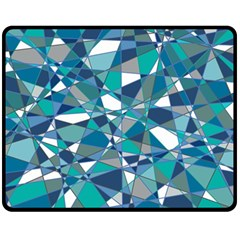 Abstract Background Blue Teal Double Sided Fleece Blanket (medium)  by Celenk