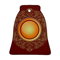 Badge Gilding Sun Red Oriental Bell Ornament (two Sides) by Celenk