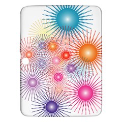 Stars Fireworks Colors Samsung Galaxy Tab 3 (10 1 ) P5200 Hardshell Case  by Celenk