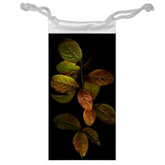 Autumn Leaves Foliage Jewelry Bag by Celenk