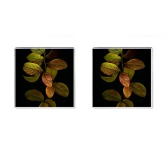 Autumn Leaves Foliage Cufflinks (square) by Celenk