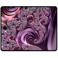 Abstract Art Fractal Fleece Blanket (medium)  by Celenk