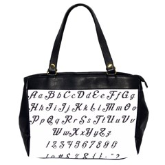 Font Lettering Alphabet Writing Office Handbags (2 Sides)  by Celenk