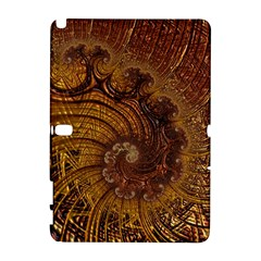 Copper Caramel Swirls Abstract Art Galaxy Note 1 by Celenk