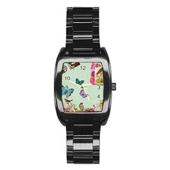 Collage Stainless Steel Barrel Watch by 8fugoso