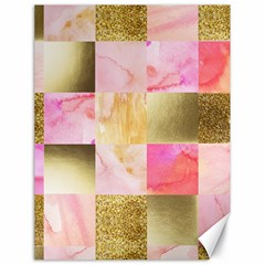 Collage Gold And Pink Canvas 18  X 24   by 8fugoso