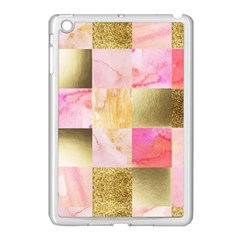 Collage Gold And Pink Apple Ipad Mini Case (white) by 8fugoso