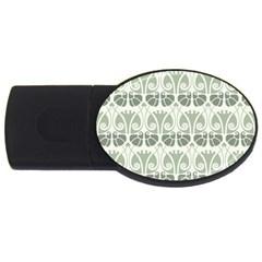 Teal Beige Usb Flash Drive Oval (2 Gb) by 8fugoso