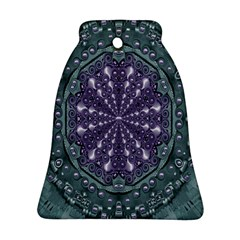 Star And Flower Mandala In Wonderful Colors Bell Ornament (two Sides) by pepitasart