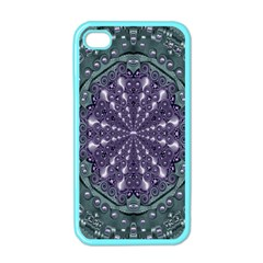 Star And Flower Mandala In Wonderful Colors Apple Iphone 4 Case (color) by pepitasart