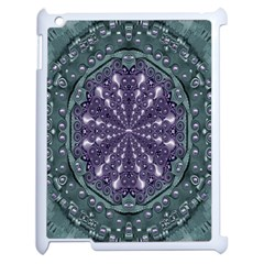 Star And Flower Mandala In Wonderful Colors Apple Ipad 2 Case (white) by pepitasart