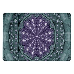 Star And Flower Mandala In Wonderful Colors Samsung Galaxy Tab 10 1  P7500 Flip Case by pepitasart