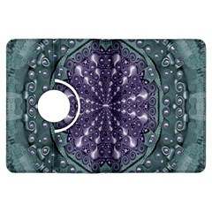 Star And Flower Mandala In Wonderful Colors Kindle Fire Hdx Flip 360 Case by pepitasart