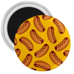Hot Dog Seamless Pattern 3  Magnets by Celenk