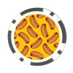 Hot Dog Seamless Pattern Poker Chip Card Guard (10 Pack) by Celenk