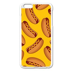 Hot Dog Seamless Pattern Apple Iphone 6 Plus/6s Plus Enamel White Case by Celenk