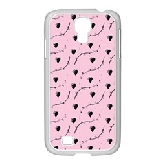 Love Hearth Pink Pattern Samsung Galaxy S4 I9500/ I9505 Case (white) by Celenk