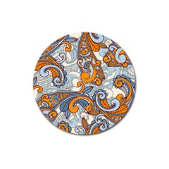 Paisley Pattern Magnet 3  (round) by Celenk