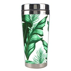 Banana Leaves And Fruit Isolated With Four Pattern Stainless Steel Travel Tumblers by Celenk